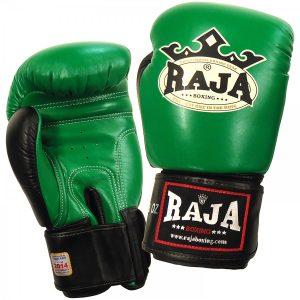 Πυγμαχικά Γάντια Raja Γνήσιο Δέρμα - Rbgv-1 Δίχρωμο-Μαύρο/Λευκό