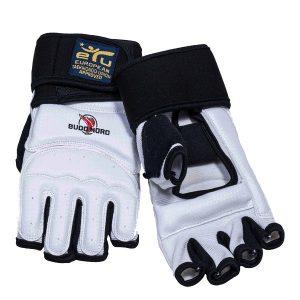 Γάντια Tae Kwon Do Budo Nord Etu Approved Λευκό/Μαύρο
