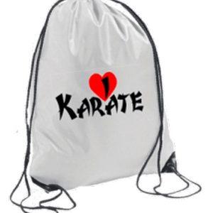 Σακίδια-Πλάτης-Ι-Love-Karate-Λευκό-market4sportsgr