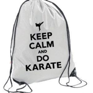 Σακίδια Πλάτης Keep Calm And Do KarateΛευκό