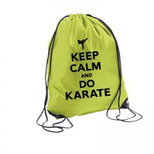 Σακίδια-Πλάτης-Keep-Calm-And-Do-Karate-Πράσινο-market4sportsgr