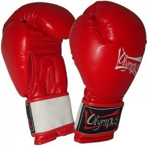 Πυγμαχικά Γάντια Olympus AIBA Στυλ Κόκκινο/Λευκό