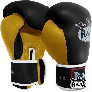 401302-boxing-gloves-raja-leather-velcro-black-yellow-side-market4sportsgr