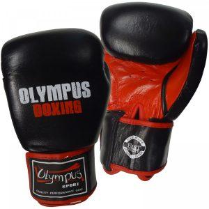403854-boxing-gloves-olympus-muaythai-cut-leather-black-red-arket4sportsgr