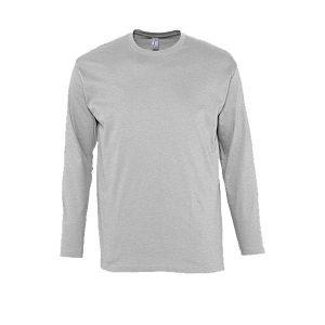 Ανδρικό μακρυμάνικο T-shirt Sol's Monarch Γκρι-350