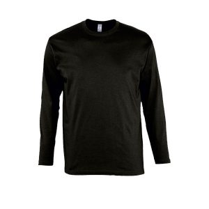 Ανδρικό μακρυμάνικο T-shirt Sol's Monarch Μαύρο-309