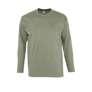 Ανδρικό μακρυμάνικο T-shirt Sol's Monarch Χακί-268